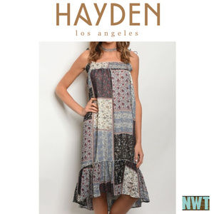 314e279e0de9 Hayden Los Angeles · NWT Quilt pattern Sleeveless Dress ...